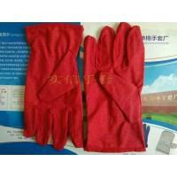 红点滴塑手套,红防滑帆布手套,红胶点帆布手套