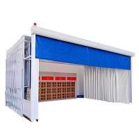大中型钢结构移动伸缩喷漆房