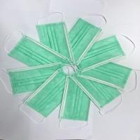 绿色一次性平面口罩现货 厂家直销