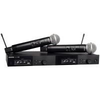 Shure SLXD24D/SM58 舒尔手持一拖二无线话筒